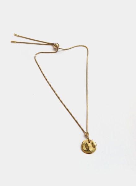 Soko Soko - Rippled Disc Necklace