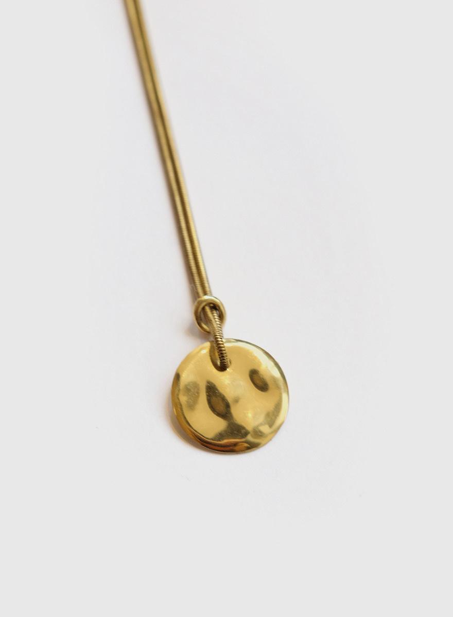 Soko Soko - Rippled Disc Necklace
