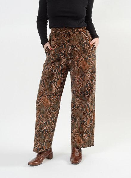 Cord Hepburn Pant - Snake Print