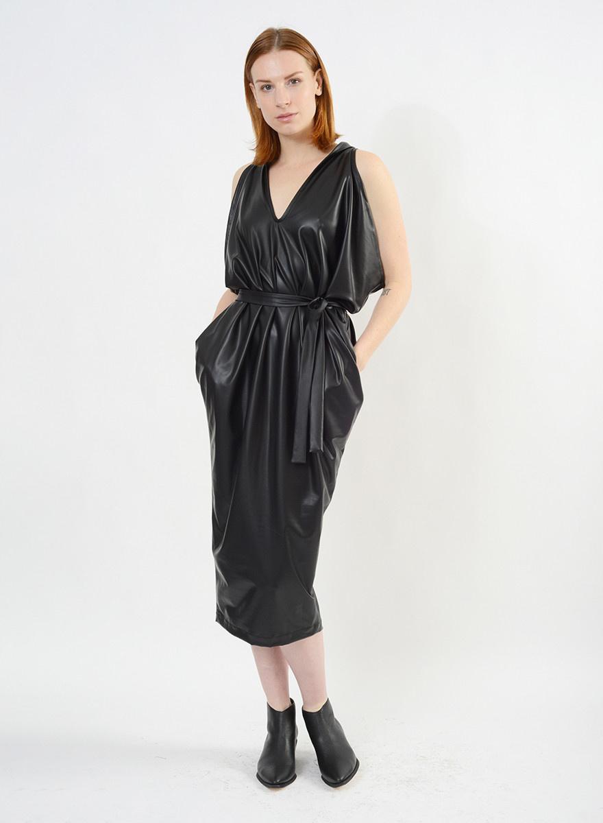 Pleather Airflow Dress