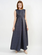 Baroque Dress - Navy