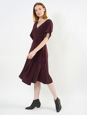 Dolman Sleeve Wrap Dress - Porto