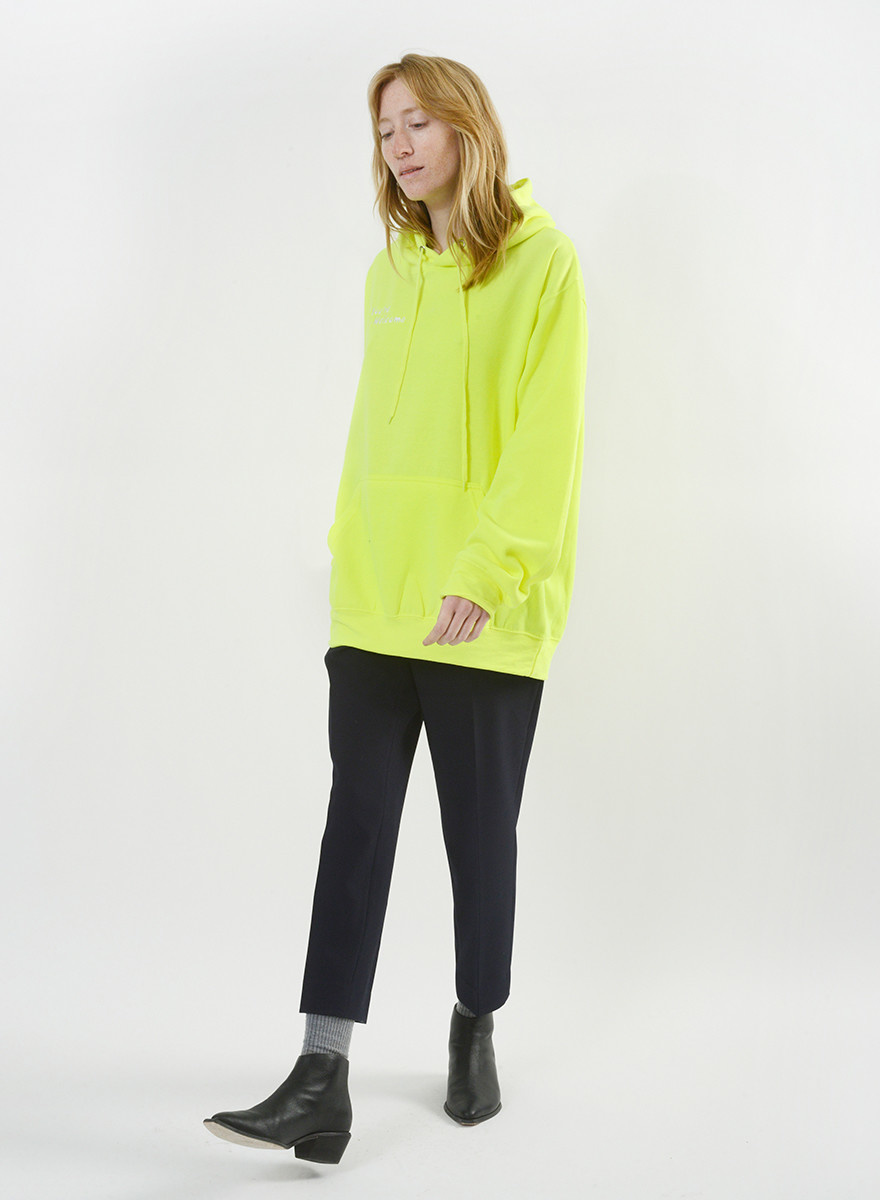 You're Welcome Sweatshirt - Neon Green