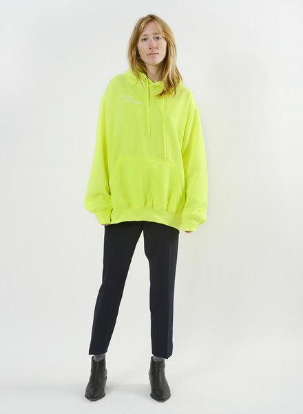 You're Welcome Sweatshirt - Neon Green