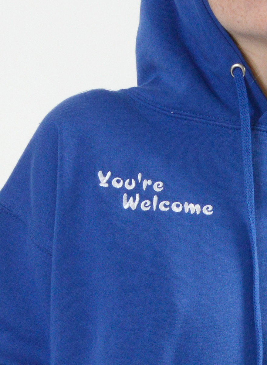 You're Welcome Sweatshirt - Blue
