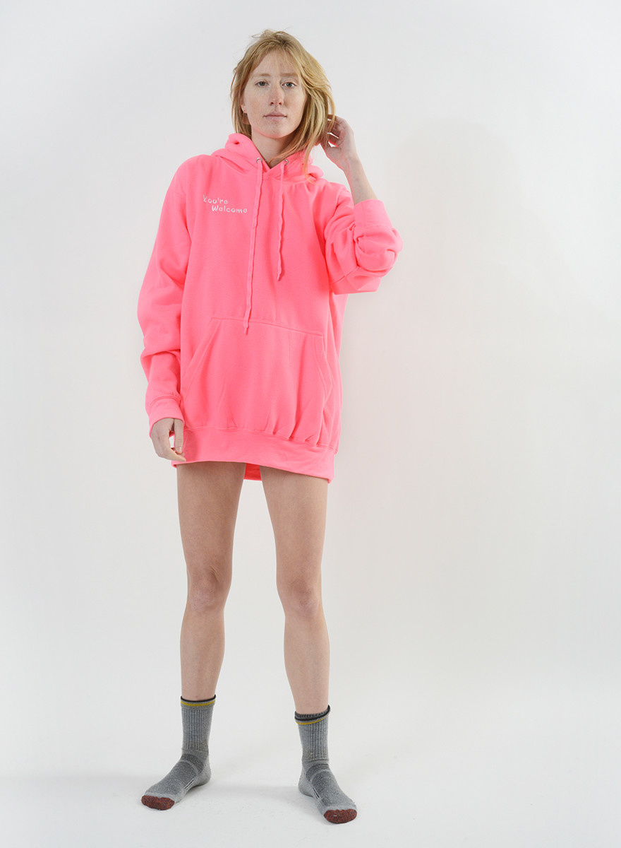 You're Welcome Sweatshirt - Hot Pink