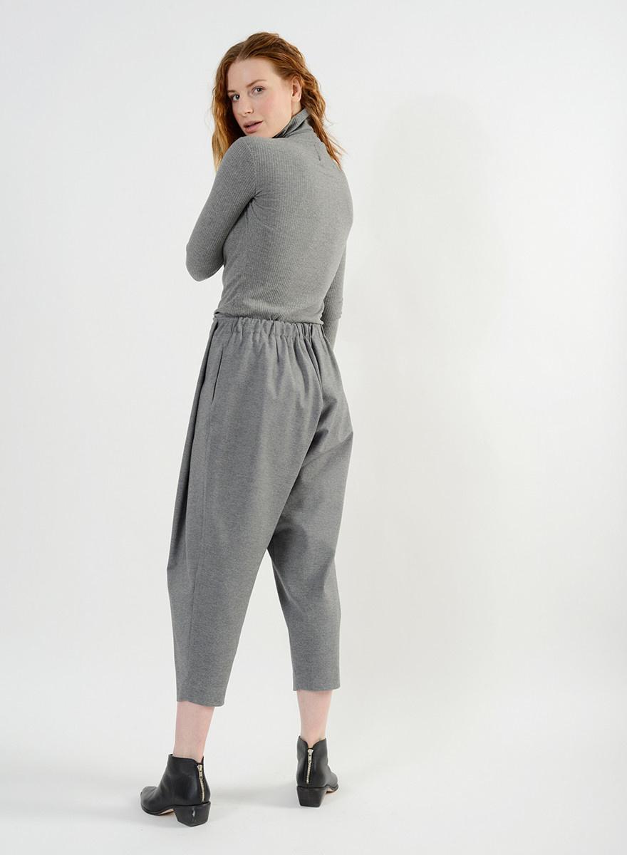 Cozy Pleat Pant - Heather Grey