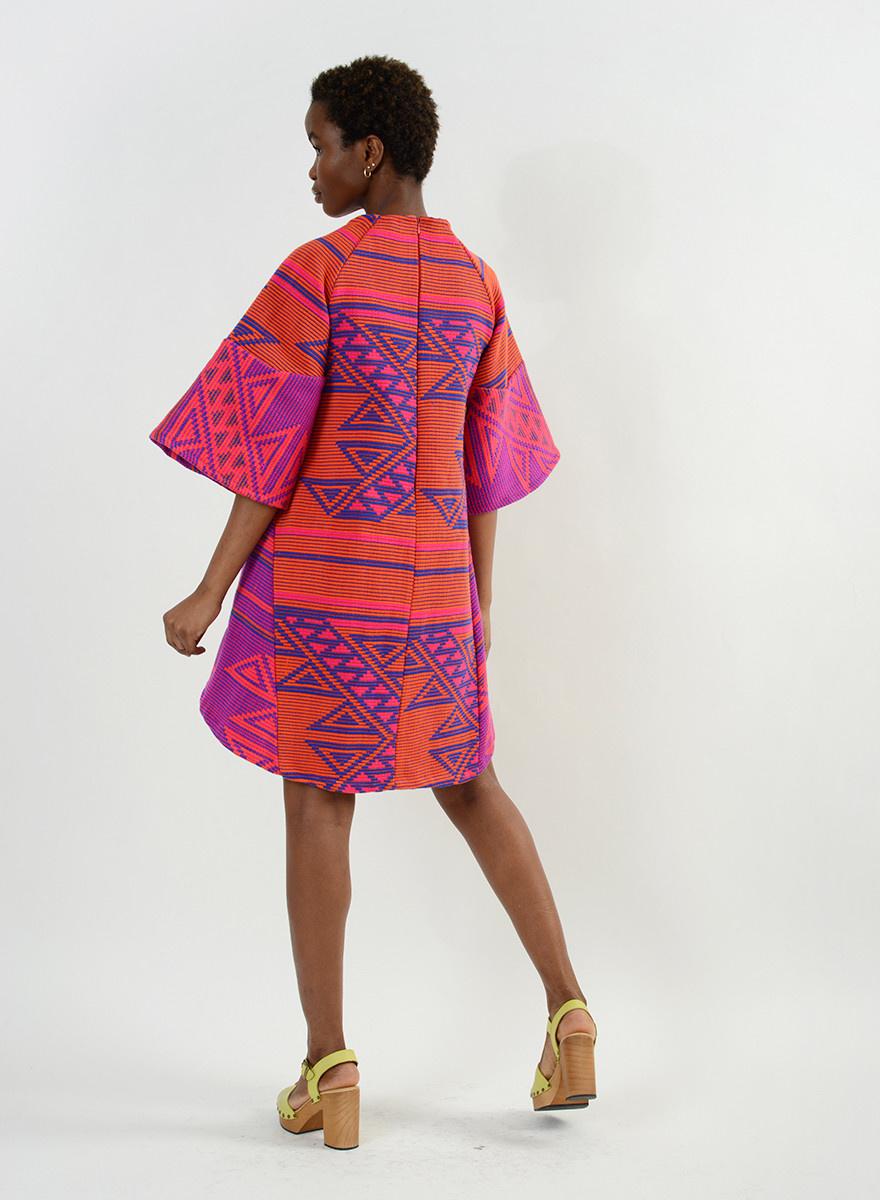 Triangles Dress - Pink Multi