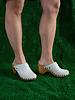 Lisa B. High Heel Clog - Chalk