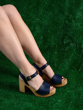 Lisa B. Platform Sandals - Baltic Blue