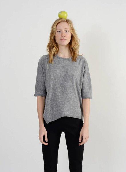 Short Side Slit Sweater - Limestone