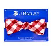 J Bailey Red Check Silk Bowtie