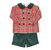The Bailey Boys, inc Forest Cord Dressy Short Set