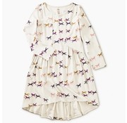 Tea Collection Patterned Hi-Lo Paneled Dress in Wild Horses