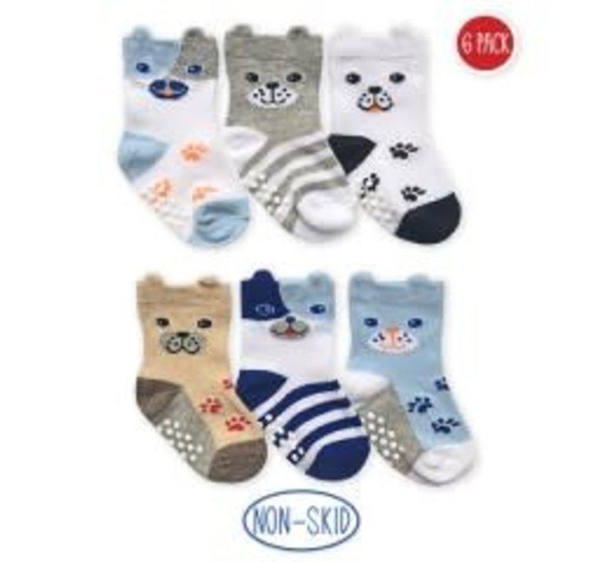 Non-Skid Dog Socks (6 pack)