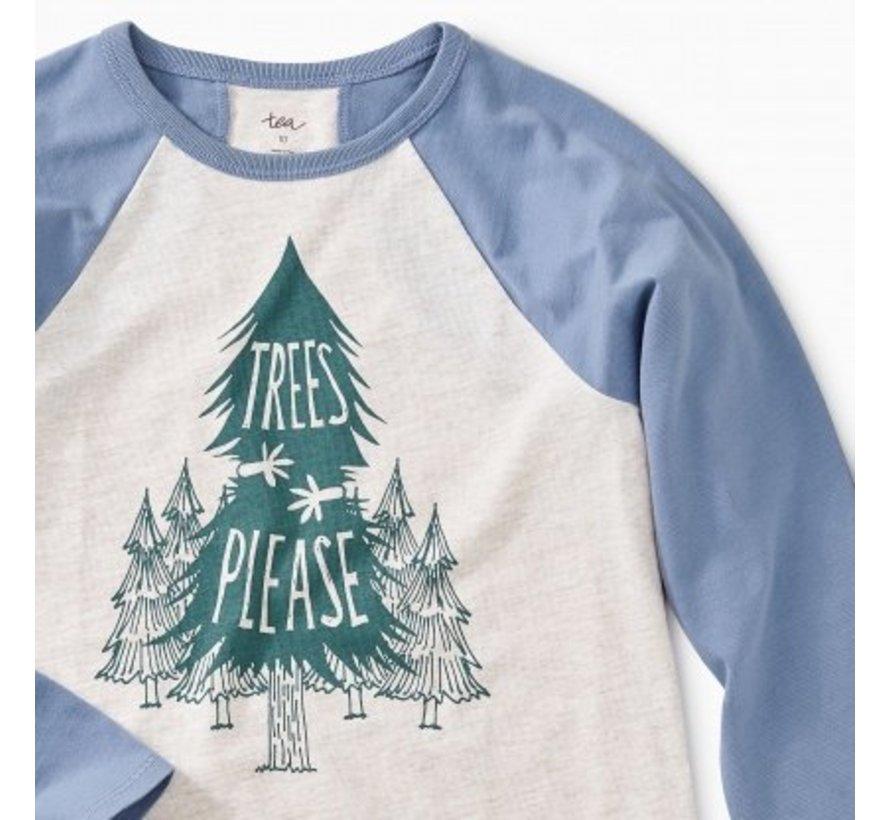 Trees Please Raglan Tee