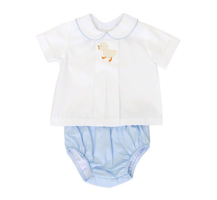 Infant Boys Baby Ducks Diaper Cover Set