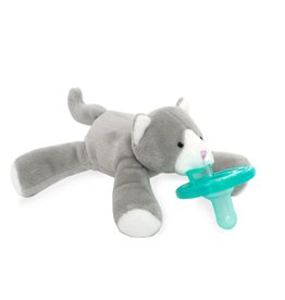 Wubbanub Grey Kitten Wubbanub Pacifier