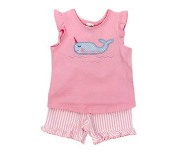 The Bailey Boys Girls Narwhal Short Set