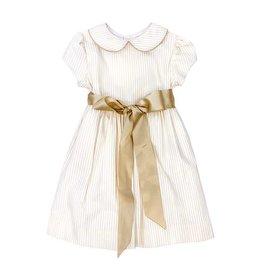 The Bailey Boys Khaki Stripe Sash Dress