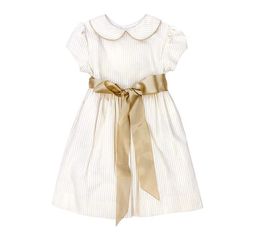 Khaki Stripe Sash Dress