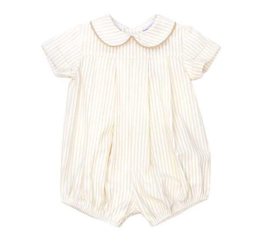 Baby Boy Khaki Stripe Bubble