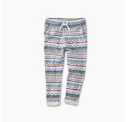 Tea Collection Printed Knit Joggers in Ha Tay Geo Stripe