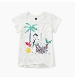 Tea Collection Island Mermaid Graphic Tee in Paperwhite