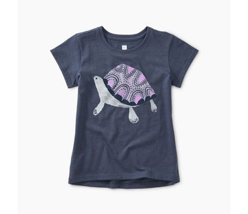 Tea Collection Turtle Graphic Tee in Crown Blue