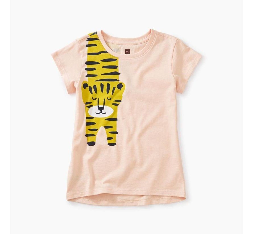 Tiger Turn Graphic Tee in Seashell