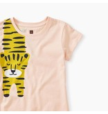 Tea Collection Tiger Turn Graphic Tee in Seashell
