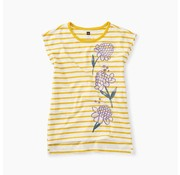Tea Collection Ginger Flower Hi-Lo Top in Sulphur