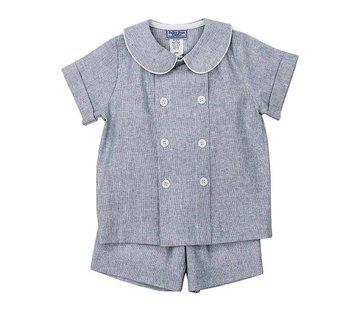 The Bailey Boys Windsong Linen Dressy Short Set
