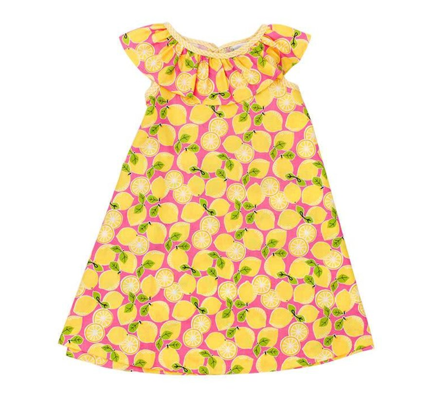 Lemon Print Masters Dress