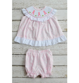 Banana Split Bunny Smocked Bloomer Set