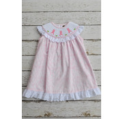 Banana Split Bunny Smocked Bishop Dress