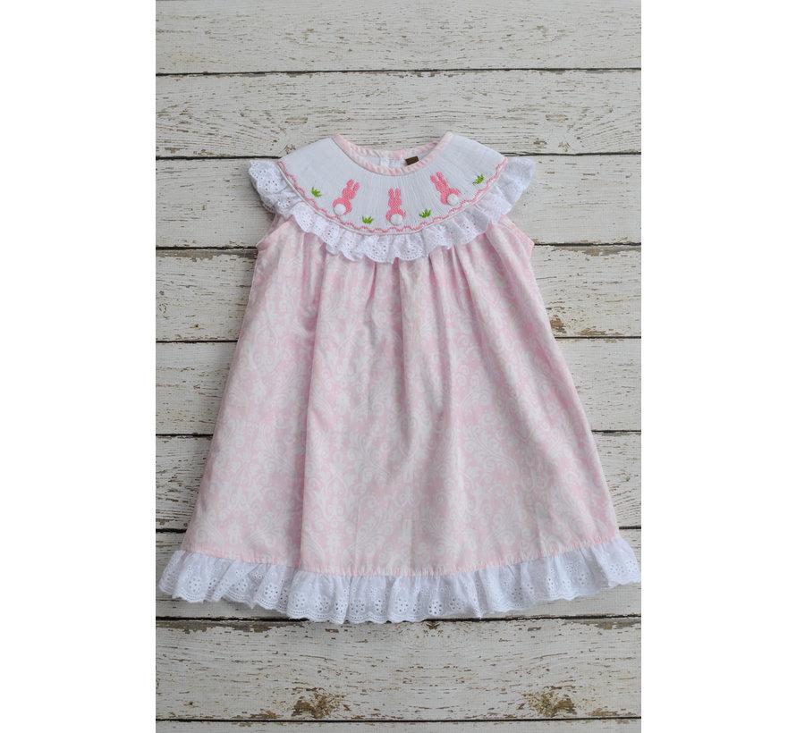 Bunny Smocked Bishop Dress
