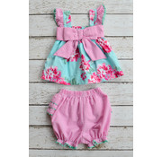 Banana Split Pocketful of Posies Bow Bloomer Set