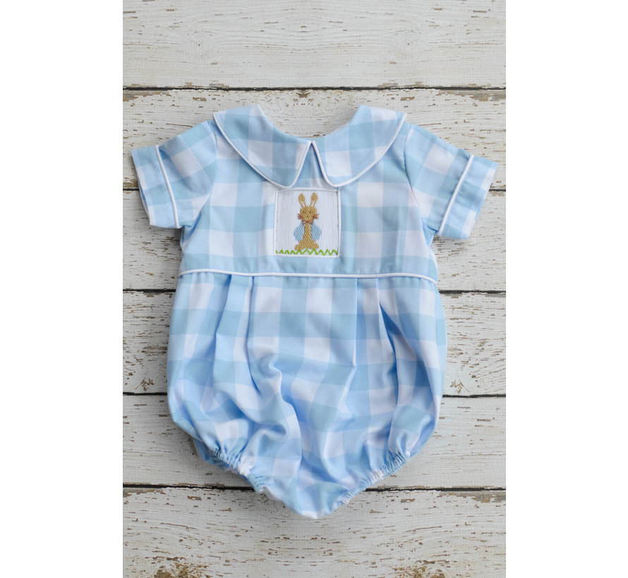 Peter Cottontail Smocked Boys Bubble