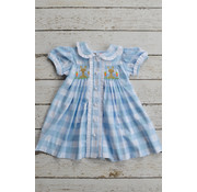Banana Split Peter Cottontail Smocked Bishop Dress