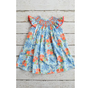 Three Sisters Bliss Bouquet Smocked Geo Angelsleeve Bishop Dress