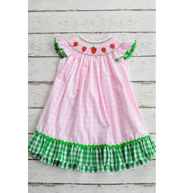 Three Sisters Strawberry Fields Smocked Angelsleeve  Dress