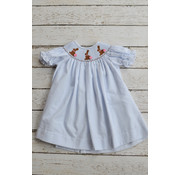 Three Sisters Chocolate Bunny Smocked Bishop Dress