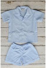 Sweet Dreams Shortsleeve Blue Stripe Pajamas