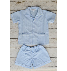 Sweet Dreams Shortsleeve Blue Stripe Pajamas