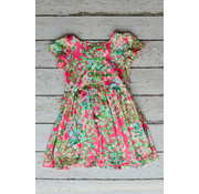 Charlie's Project Lilly Flowers Hugs Twirl Dress