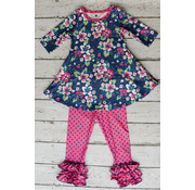Charlie's Project Navy Floral Mini Charley Set