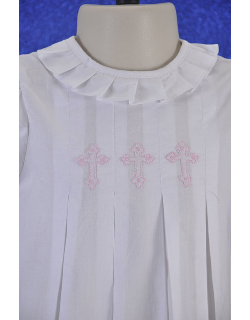 Love Me Hand Embroidered Cross Aline Dress
