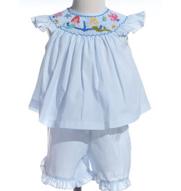 Mermaid Under the Sea Smocked Shortset