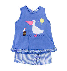 The Bailey Boys Pelican Applique Girls Short Set